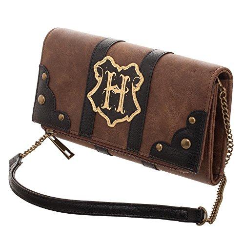 Harry Potter Hogwarts Trunk Inspired Foldover Clutch Bag ()