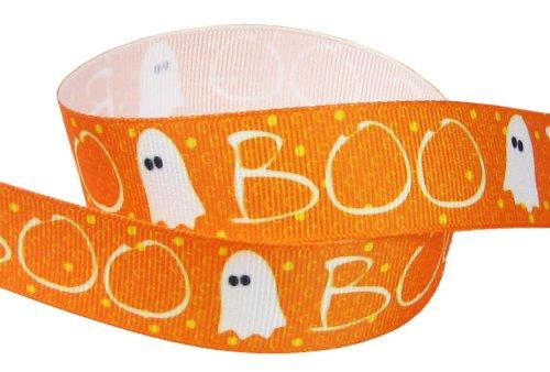 [HipGirl Holiday Halloween Grosgrain Ribbon--Skull, Spider, Candy Corn etc (5yd 1