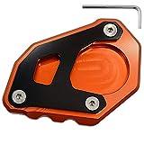 Motorcycle Foot Kickstand Side Stand Extension Enlarger Plate Pad For KTM 1050 1090 1290 Adventure /1290 Super Adventure R/KTM 1190 (Orange+Black)