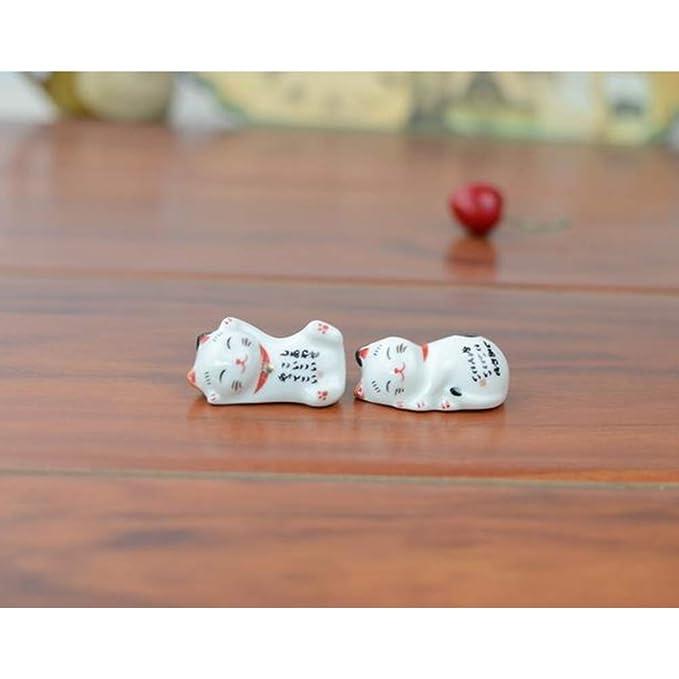 Compra DishyKooker - Juego de 5 bolígrafos de cerámica con Forma de Gato de la Fortuna para Mesa de Cocina en Amazon.es