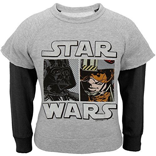 Star Wars - Faces University Little Boys Juvy Reversible Crewneck Sweatshirt - 7
