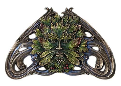 Green Man Art Nouveau Wall Plaque Cold Cast - Man Wall Leaf