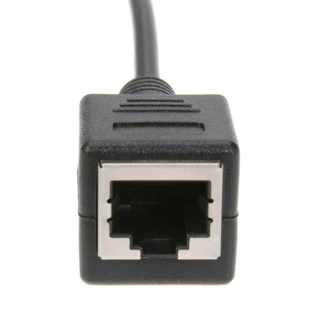 Floridivy RJ45 Y Adapter Connect Cable RJ45 1 Male to 2 Female Network Splitter Cord LAN Ethernet Wire Line