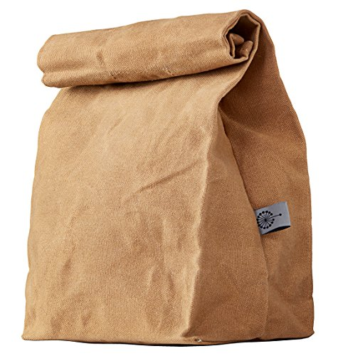 Lunch Bag | Waxed Canvas | Durable | Waterproof | Brown