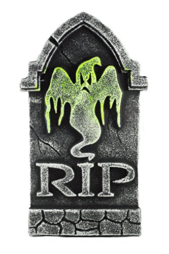 R.I.P. Ghost Tombstone Black Light Decorative Halloween Yard Sign (Halloween Headstone)