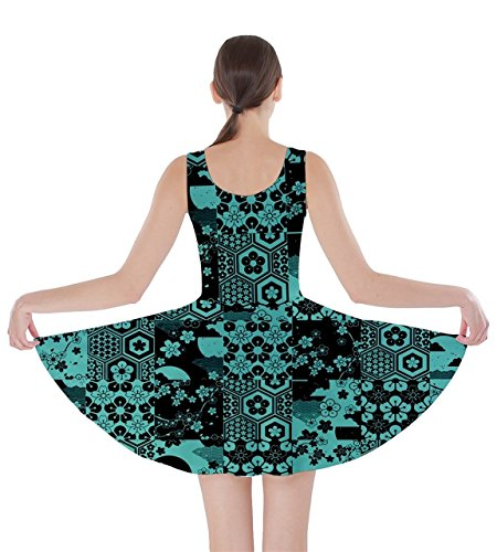 CowCow - Vestido - para mujer Turquoise & Black