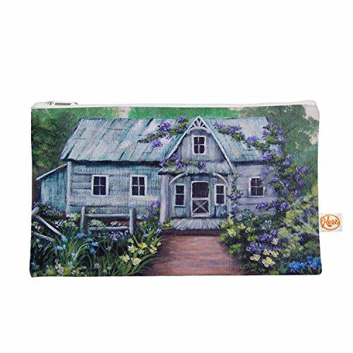 Kess eigene 12,5x 21,6cm Cyndi Steen Ivy Cottage wieder Alles-Tasche, Grau/Violett
