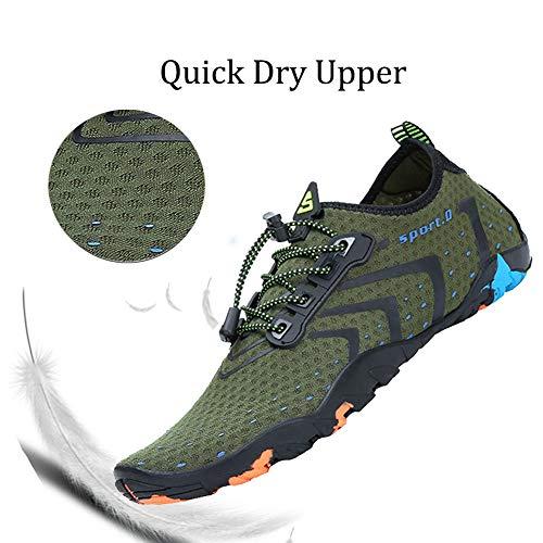 Khaki Womens Sport for River On Dry Slip Oberm Beach Shoes Lightweight Water Swim Quick Mens Aqua Barefoot Running Shoes U5agqwxFqp