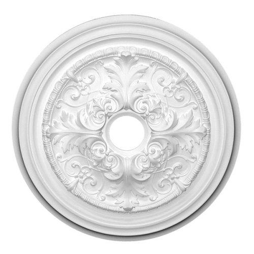 Focal Point 27 Inch Diameter Ceiling Medallion 88427 Meredith Primed White Polyurethane