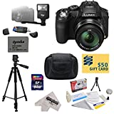 Panasonic Lumix DMC-FZ200 Digital Camera with 3-Inch Vari-Angle LCD With Advanced Accessory Kit Includes 64GB High Speed Memory Card + Card Reader + Extended Life Battery + Battery Charger + Digital Slave Flash + Deluxe Hard Shell Carrying Case + Professi