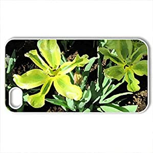 Alberta botanical garden 12 - Case Cover for iPhone 4 and 4s (Flowers Series, Watercolor style, White)