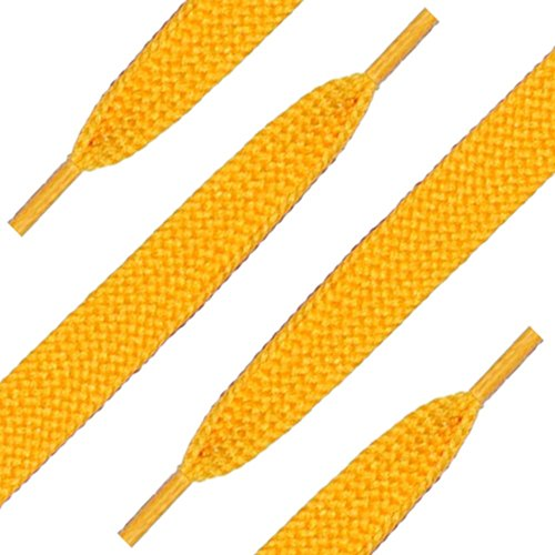 Yellow Gold Nylon Shoelaces (Fat)