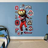 NCAA Ohio State Buckeyes Mascot Brutus Fathead Real Big Decals, 42''W x 78''H