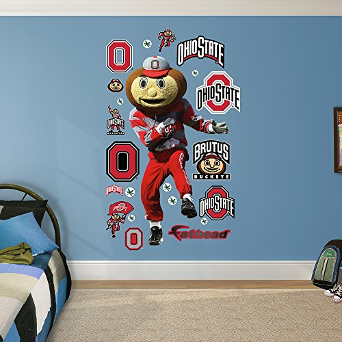 NCAA Ohio State Buckeyes Mascot Brutus Fathead Real Big Decals, 42''W x 78''H by Fathead Peel and Stick Decals