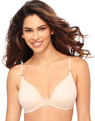 Hanes Women's X-Temp ComfortFlex Fit Back Smoothing Wirefree Bra, Nude, L ()