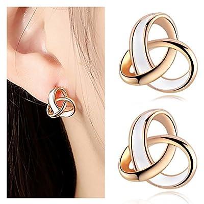 New Wowanoo Simple Stylish Love Knot Stud Earrings for Women Jewelry OL Stud Earrings for cheap