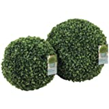 Gardman Green Leaf Effect Topiary Ball With Hanging Chain 30Cm Diameter