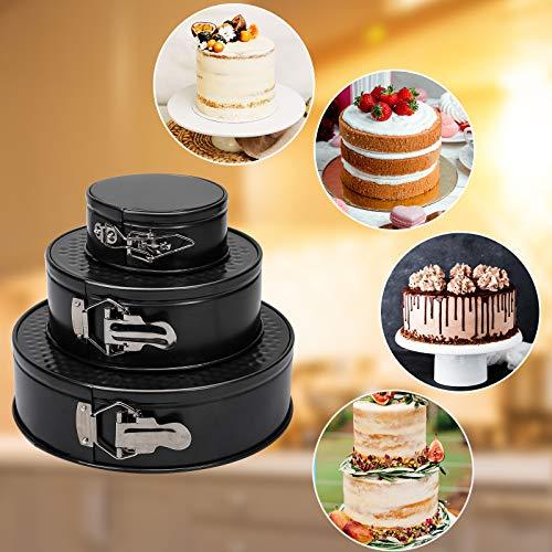 3pcs Springform Pan Non-stick Cheesecake Pan Leakproof Cake Pan Set