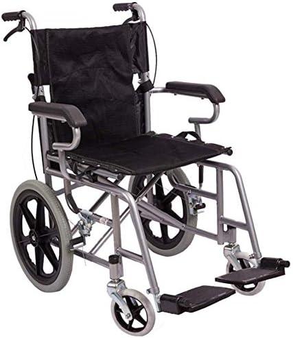 軽量調節可能な高齢者車椅子折りたたみ式ポータブルトロリー、鋼管高齢者向け障害者用シート車椅子厚みのあるソフトシート車椅子