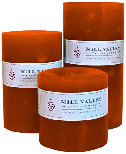 Mill Valley Candleworks Mango Citrus Unscented Candle Gift Set, 4-Inch, Set of 3