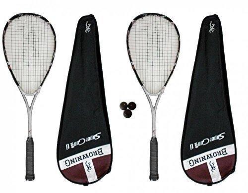 2 x Browning Super Gun 140 Ti Squash rackets + 3 x squash balls