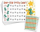 Potty Training Reward Chart with 189 Star Stickers for Toddler Boys Or Girls - Dinosaur Theme - Large 11 x 17 Size