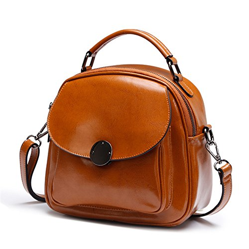 Gwqgz 2018 New Leisure Joker Ladies Fashion Bag Student Bag Simple Gray Brown