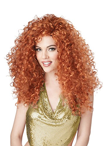 Mad Hatter Wig Adult (California Costumes Women's Disco Diva Do Wig, Auburn, One Size)