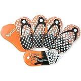 Spove Shoe Polka Dot Flip Flop Design Manicure Kit Shape Personal Care Manicure Set pack of 6 Orange