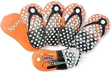 5b132d34e9860f Spove Shoe Polka Dot Flip Flop Design Manicure Kit Shape Personal Care Manicure  Set pack of
