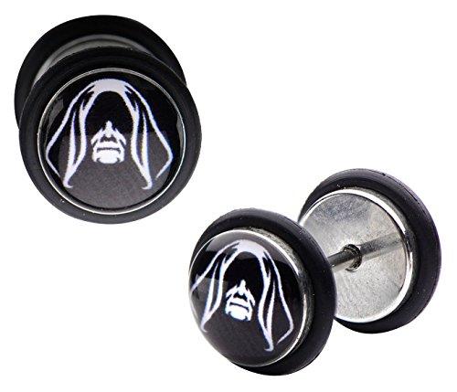 Star Wars Emperor Palpatine Sith Lord Fake Plug Earrings (Star Earrings Lightsaber Wars)