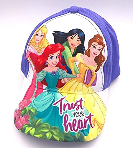 Disney Princess Little Girls Hat Baseball Cap Ariel Belle Aurora Age 3-6 Years