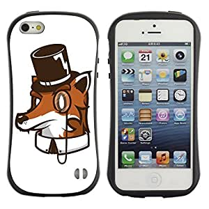 Hybrid Anti-Shock Bumper Case for Apple iPhone 5 5S / High Class Fox