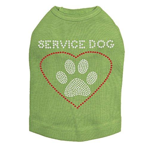 Service Dog - Dog Shirt - Couture Rhinestone T-shirt
