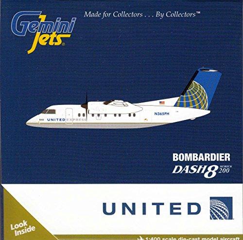 GEMGJ1153 1:400 Gemini Jets United Express Bombardier Dash-8 Series 200 Reg #N365PHB (pre-painted/pre-built)