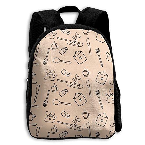 Boys Girls Kitchen Pattern Popular Printing Toddler Pre School Backpack Bags Lightweight