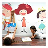 Pop and Lolli Merry Munchkins Glitzy Girls Wall Stickers