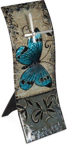 AngelStar 19057 Handmade and Hand-Painted Glass Blue Butt...