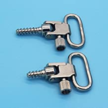 1 inch Loop Quick Release Gun Sling Swivels Mount kits with Studs/Screw Silver Color