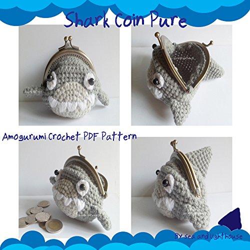 Shark Coin Purse - Amigurumi Crochet PDF Pattern