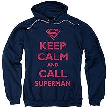 Superman DC Comics Call Superman Adult Pull-Over Hoodie