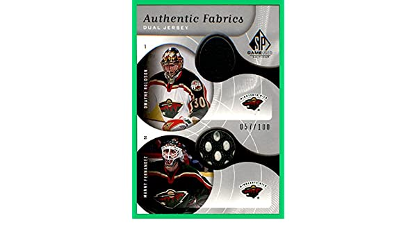 2005-06 SP Game Used Authentic Fabrics Dual GAME USED ...