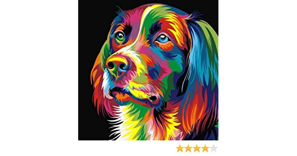 dise/ño de perros decoraci/ón de pared moderna 40 x 50 cm myonly Juego de bordado de punto de cruz con diamantes