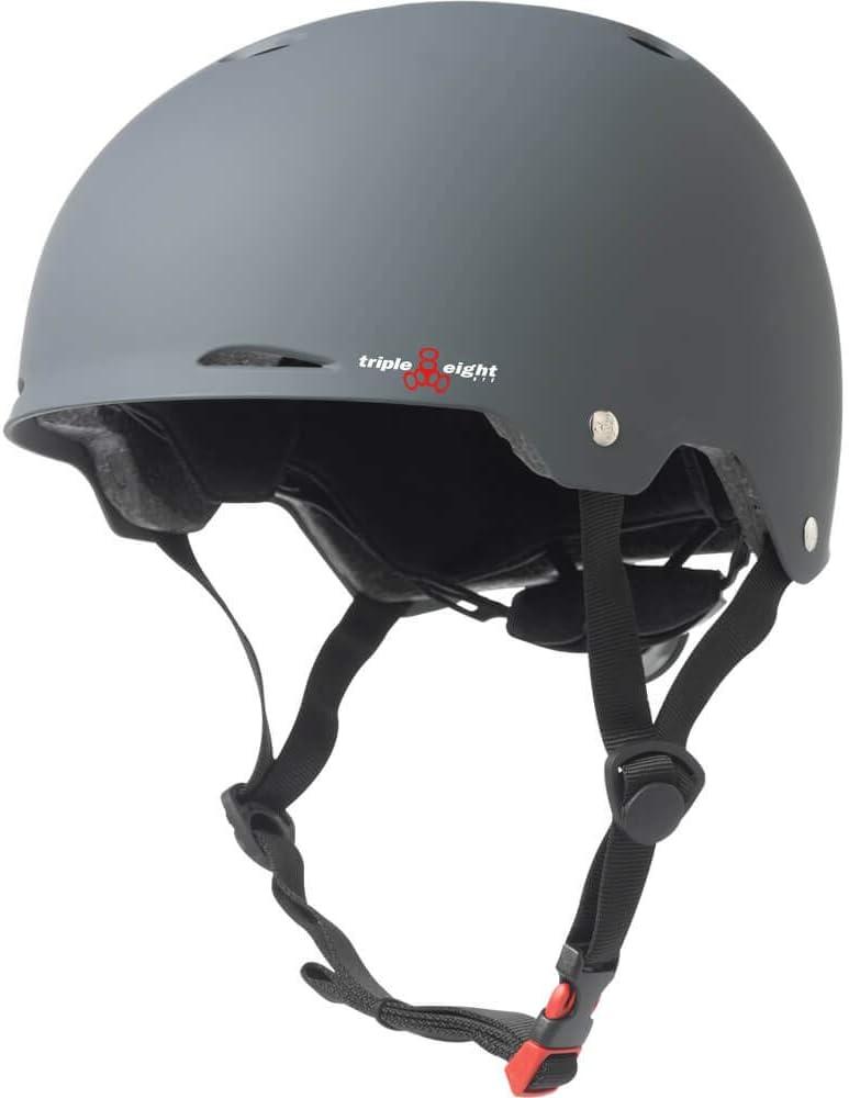 Triple 8 Gotham Gun Matte Rubber Skateboard Helmet