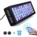 Lightimetunnel WiFi LED Aquarium Light, 165W WiFi + Dimmable Fish Tank Ligh Full Spectrum with Four Channels for Freshwater and Saltwater Marine Tanks LPS/SPS