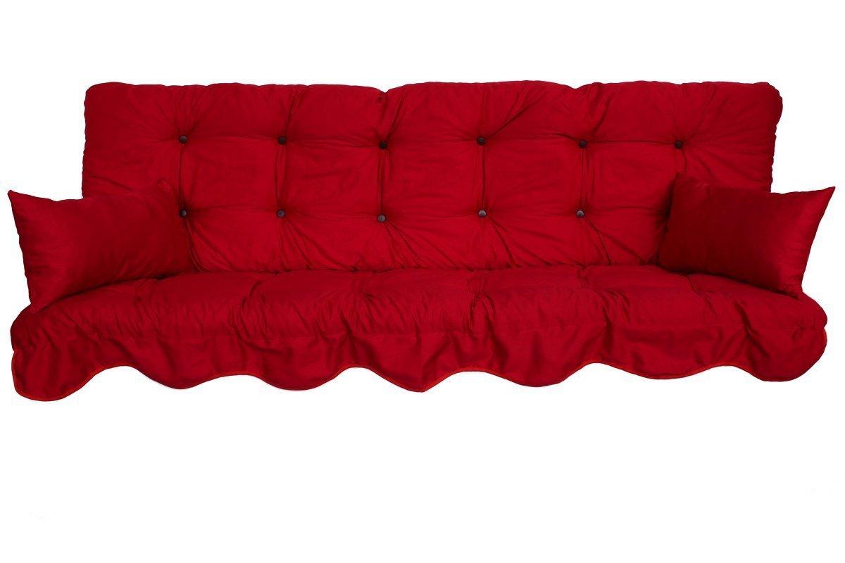 Polsterauflage Hollywoodschaukel 180x50 Modell 590 Farbe rot Adlatus-Kühnemuth