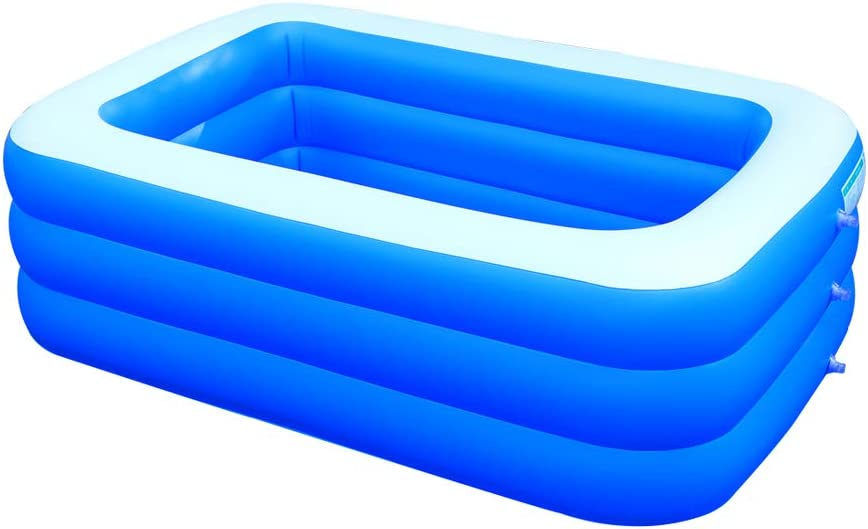 N / A Inflatable Swimming Pools, Thickened Full-Sized Inflatable Pools,Kiddie Pools, Swim Center Pool,for Outdoor Indoor Garden Backyard,83 x 63 x 23 in