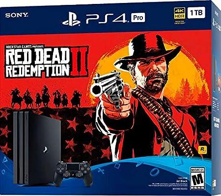 Sony PlayStation 4 Pro 1TB Red Dead Redemption 2 Consola Bundle con tecnología HDR para 4K TV Gaming – Negro azabache: Amazon.es: Videojuegos