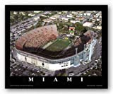 Miami, Florida - Orange Bowl - Miami Hurricanes by Brad Geller 17''x24'' Art Print Poster