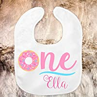 Donut First Birthday Bib